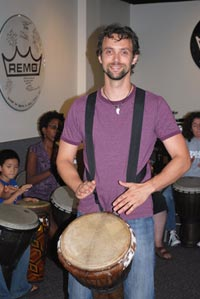 Alex Spurkel drum circle Facilitator